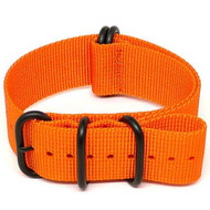 Ballistic Nylon Military Watch Strap - Orange (PVD Buckle)