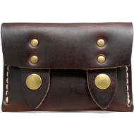 Leather Horizontal Snap Wallet - Brown Chromexcel