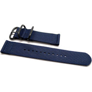 Two Piece Ballistic Nylon Watch Strap - Navy (PVD)