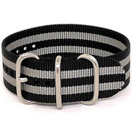 Ballistic Nylon Military 1 Piece Watch Strap - Bond (Matte Buckle)