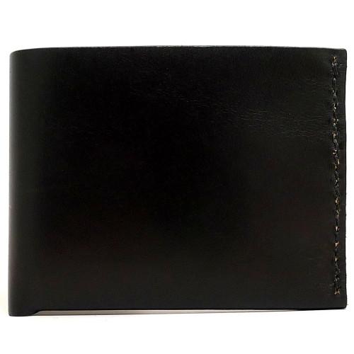 DA LUCA Handmade Bi Fold Wallet - Black Chromexcel