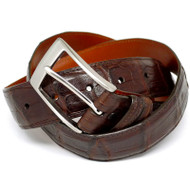 Handmade Brown Matte Crocodile Belt