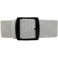 Braided Nylon Perlon Watch Strap - Grey (PVD Buckle)