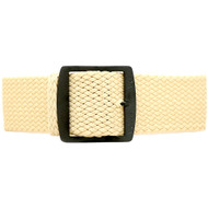 Braided Nylon Perlon Watch Strap - Sand (PVD Buckle)