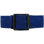 Braided Nylon Perlon Watch Strap - Navy (PVD Buckle)