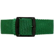 Braided Nylon Perlon Watch Strap - Green (PVD Buckle)