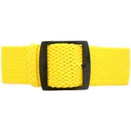 Braided Nylon Perlon Watch Strap - Yellow (PVD Buckle)