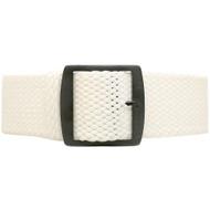 Braided Nylon Perlon Watch Strap - White (PVD Buckle)