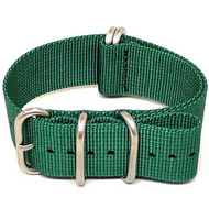 Ballistic Nylon Military Watch Strap - Green (Matte Buckle)