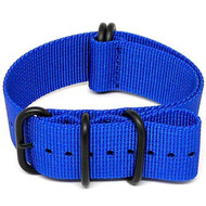 Ballistic Nylon Military Watch Strap - Blue (PVD Buckle)