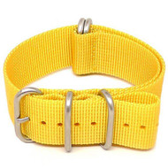 Ballistic Nylon Military Watch Strap - Yellow (Matte Buckle)