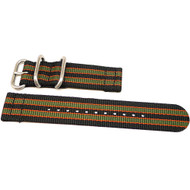 Two Piece Ballistic Nylon Watch Strap - Goldfinger