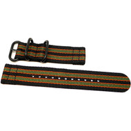 Two Piece Ballistic Nylon Watch Strap - Goldfinger (PVD)