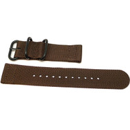 Two Piece Ballistic Nylon Watch Strap - Brown (PVD)