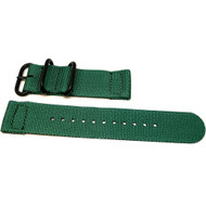 Two Piece Ballistic Nylon Watch Strap - Green (PVD)
