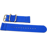 Two Piece Ballistic Nylon Watch Strap - Blue
