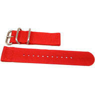 Two Piece Ballistic Nylon Watch Strap - Red