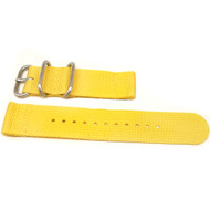 Two Piece Ballistic Nylon Watch Strap - Yellow