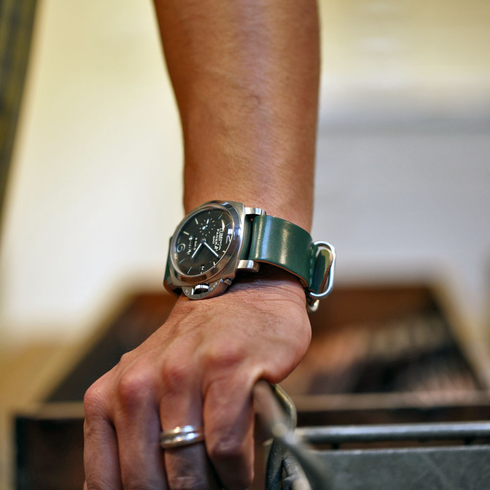be0eb17b8 Shell Cordovan Military Watch Strap   DaLuca Straps