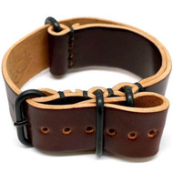 Shell Cordovan Military Watch Strap - Color 8 (PVD Buckle)