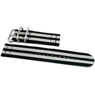 Two Piece Ballistic Nylon Watch Strap - Bond