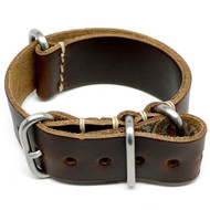 Military Watch Strap - Brown Chromexcel (Matte Buckle)