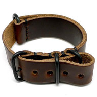 Military Leather Watch Strap - Brown Chromexcel (PVD Buckle)