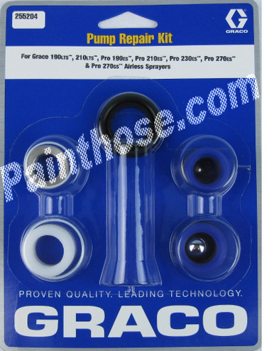 graco 255204 or 255 204 pump repair kit oem. Black Bedroom Furniture Sets. Home Design Ideas