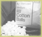 Medium Size Cotton Balls 2/2000 pieces bag