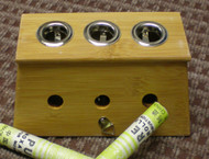 Three Hole Bamboo Moxibustion Box 温灸盒