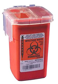 Monoject Sharps Container 1Qt. 100 pcs. Case
