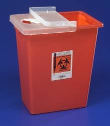 """Kendall Large Volume Sharps Containers 8 Gallon 17.5""""h X 11""""d X 15.5""""w Container"""