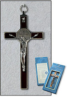 Black Saint Benedict Wall Crucifix