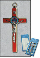 Red Saint Benedict Wall Crucifix
