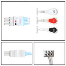 GE Datex-Ohmeda 3 Lead Dual Pin ECG Leadwires (Snap) (545327)