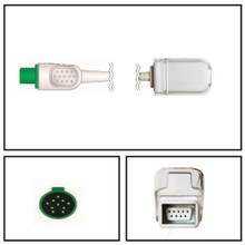 GE 10 Pin to DB9 SpO2 Extension Cable