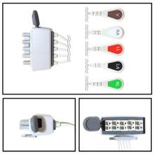 Philips 5 Lead Dual Pin w/Tele Shield ECG Leadwires (Snap) (M2592A)