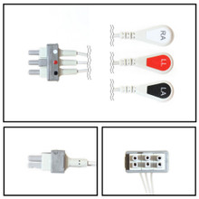 Philips 3 Lead Dual Pin ECG Leadwires (Snap) (Single Leads) (M1605A)