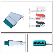 Nihon Kohden 12 Pin to 3 Lead Fixed ECG Cable (Grabber) (3/6 LD)