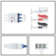 Philips 3 Lead Dual Pin ECG Leadwires (Grabber) (M1603A)