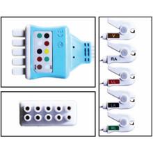 GE Marquette 5 Lead Dual Pin Disposable ECG Leadwire (Grabber) - (Box of 10)