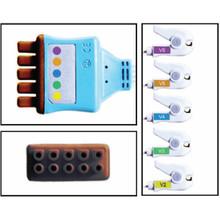 GE Marquette 5 Lead Dual Pin Disposable ECG Leadwire (Grabber) (Chest) - (Box of 10)