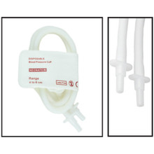 NiBP Disposable Cuff Double Tube  Neonate Size 2 (4-8cm) - TPU (Box of 10)