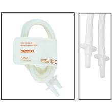 NiBP Disposable Cuff Double Tube  Neonate Size 1 (3-6cm) -  Soft Fiber (Box of 10)