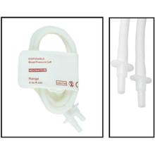 NiBP Disposable Cuff Double Tube  Neonate Size 2 (4-8cm) -  Soft Fiber (Box of 10)