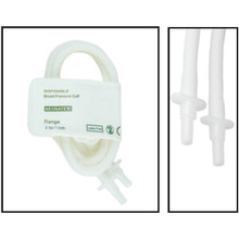 NiBP Disposable Cuff Double Tube  Neonate Size 3 (6-11cm) -  Soft Fiber (Box of 10)