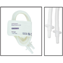 NiBP Disposable Cuff Double Tube  Neonate Size 4 (7-13cm) -  Soft Fiber (Box of 10)