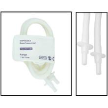 NiBP Disposable Cuff Double Tube  Neonate Size 4 (7-13cm) -  Soft Fiber (Box of 10)