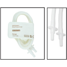 NiBP Disposable Cuff Double Tube  Neonate Size 5 (8-15cm) -  Soft Fiber (Box of 10)