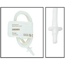 NiBP Disposable Cuff Single Tube  Neonate Size 5 (8-15cm) - TPU (Box of 10)